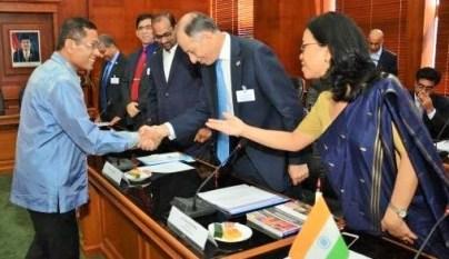 Menperin Saleh Husin tawarkan kerjasama sektor Industri dengan India/Foto Nusantaranews via dok. beritadaerah