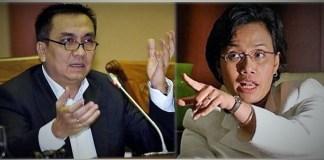 Anggota Komisi I DPR RI, Effendi Simbolon dan Menkeu Sri Mulyani/Ilustrasi foto nusantaranews