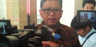 Sekjen PDI Perjuangan, Hasto Kristiyanto di Kantor DPP PDIP, Jalan Diponegoro, Jakpus, Jumat (19/8)/Foto: Eriec Dieda/Nusantaranews