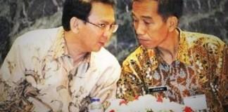 Presiden Joko Widodo dan Gubernur DKI Basuki Tjahaja Purnama/Foto nusantaranews via rmoljakarta