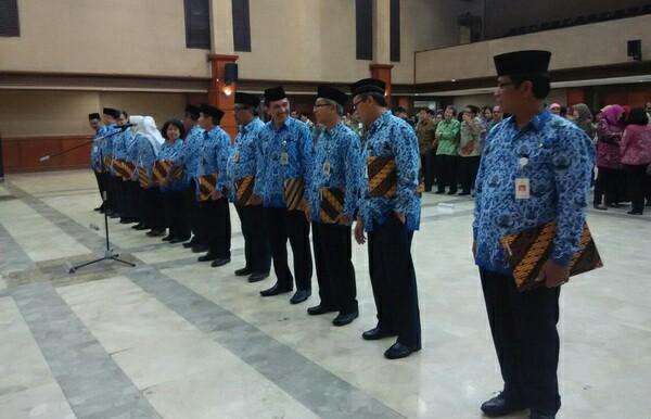 Pelantikan Dirjen Perkebunan Kementan di Auditorium, Kementan, Jakarta, Selasa (20/9)/Foto Andika/Nusantaranews