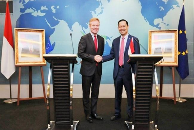 Peluncuran IEU CEPA Antara Indonesia dengan Uni Eropa/Foto dok. Kemendag