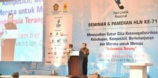 Wakil Presiden Republik Indonesia, Jusuf Kalla saat memberikan arahannya di Acara Seminar Dan Pameran Hari Listrik Nasional ke-71/Foto: dok. Kementerian ESDM