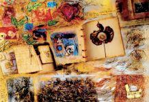 "Lukisan Magdalena Pardede (Jakarta), ""Catatan Harian Bumiku"", 150 x 200 cm, digital painting on canvas, 2008"