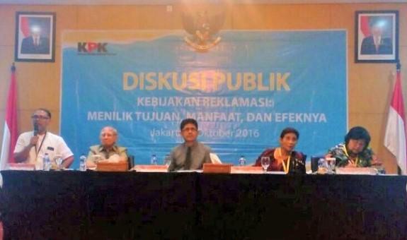 Diskusi Bertajuk Reklamasi di Auditorim KPK/Foto: tempo.co