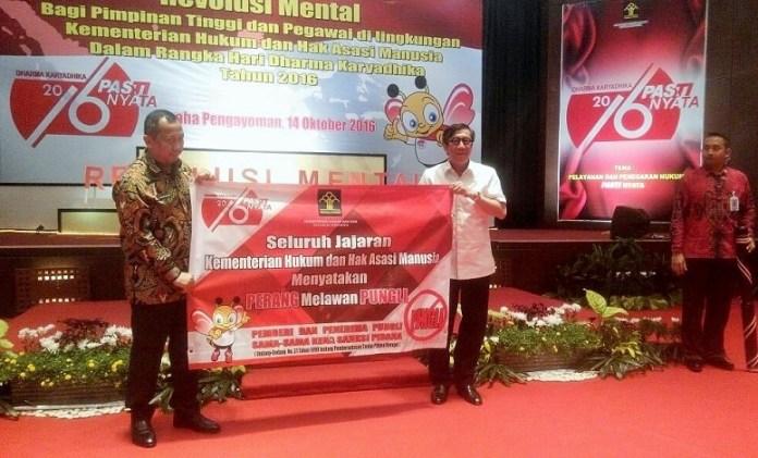 Diskusi publik bertema 'Pelayanan dan Penegakan Hukum Pasti Nyata, di Jakarta, Jumat, (14/9)/Foto Fadilah/Nusantaranews