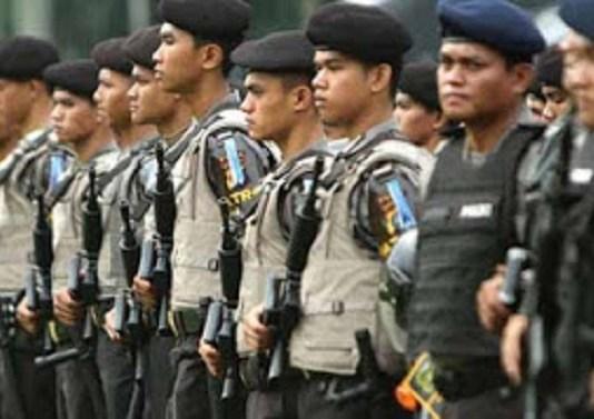 Pasukan Pengamanan Polda Lampung/Foto Hendra