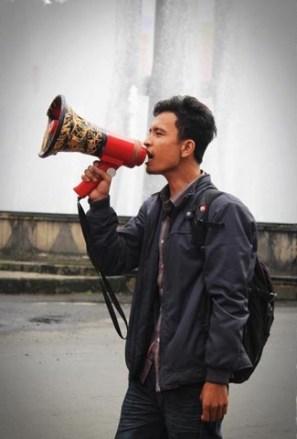 Ketua PP Front Mahasiswa Nasional (FMN) Rachmad P Panjaitan. Foto via Kabarkampus