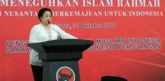 Megawati, dalam acara Pelatihan Mubaligh Kebangsaan, di DPP PDI Perjuangan, Menteng, Jakarta Pusat, Senin (31/10/2016)/Foto: via Kompas.com