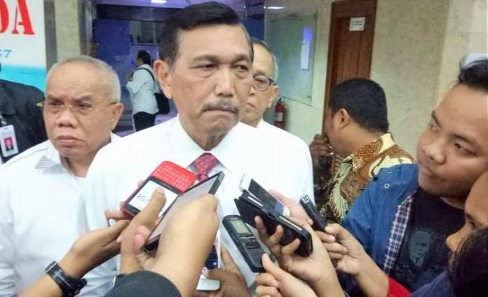 Menteri Koordinator Bidang Maritim, Luhut Binsar Pandjaitan di gedung BPPT/Foto: dok. suara.com