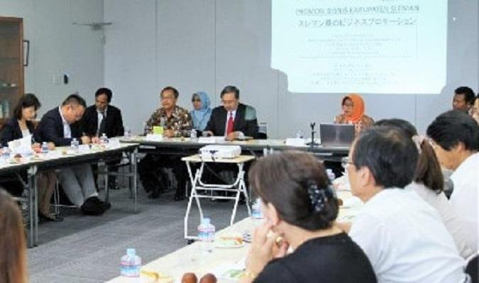 Wakil Bupati Sleman Sri Muslimatun didampingi Kepala BPMD dan saat berkunjung ke Osaka, 28-30 September 2016 /Foto Dok. Kemenlu