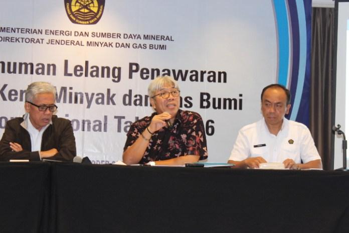 Direktorat Jenderal Mineral dan Batubara dari Kementerian Energi Sumber Daya Mineral(ESDM), Bambang Gatot Aryono (Tengah)/Foto Andika / Nusantaranews