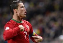 Cristiano Ronaldo usai bobol gawang Latvia. Foto Dok Ronaldo Stats