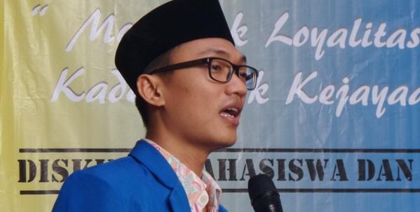 Ketua Umum Pengurus Besar Pergerakan Mahasiswa Islam Indonesia (Ketum PB PMII) Aminuddin Ma'ruf. Folo IST