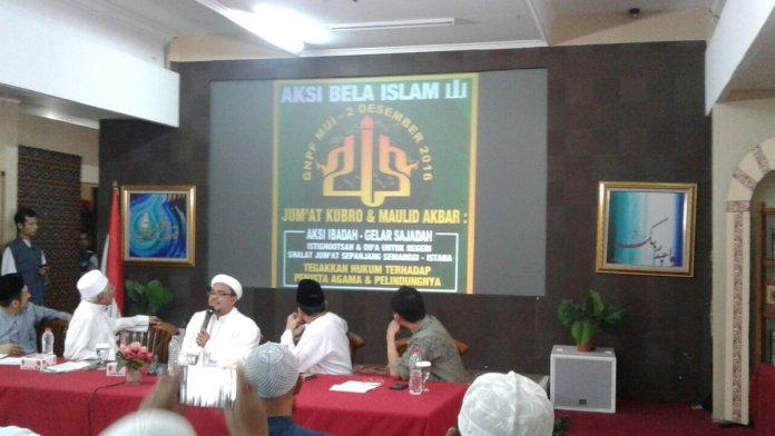 Konferensi Pers GNPF-MUI di Jakarta. Foto via IST