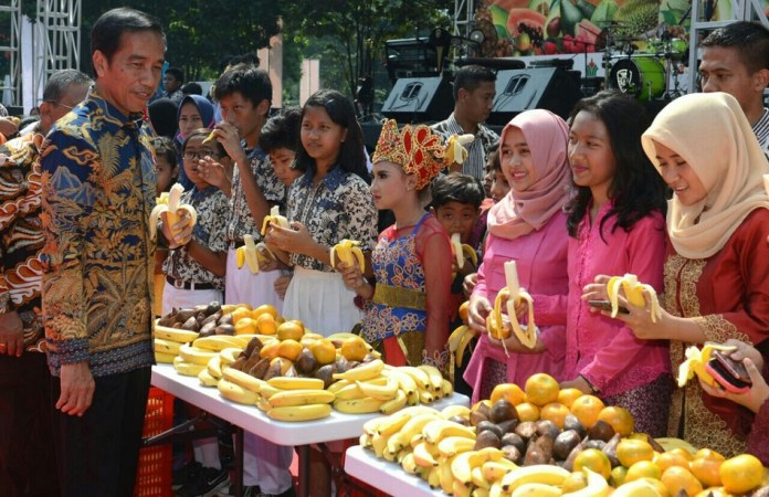 Presiden Jokowi hadiri Fruit Indonesia 2016 di Senayan. Foto Andika