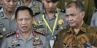 Kapolri Tito Karnavian dan Ketua KPK Agus Rahardjo/Foto: Dok. Antaranews