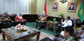 Menag Lukman terima Dubes Indonesia untuk Amerika Budi Bowoleksono/foto: Dok Kemenag (Sugito)