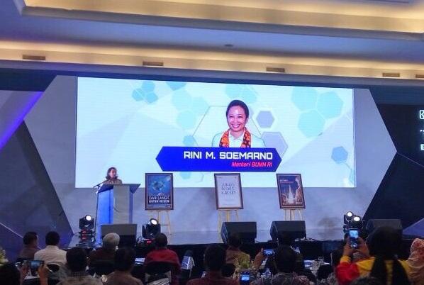 Menteri Badan Usaha Milik Negara(BUMN) Rini Soemarno. Foto Andika/Nusantaranews