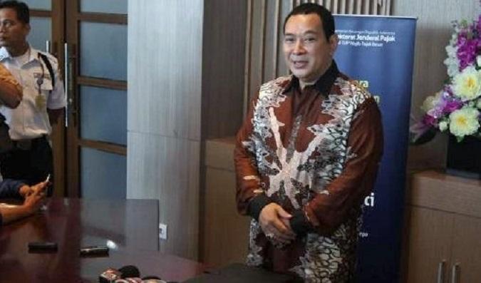 Tommy Soeharto saat menjawab pertanyaan wartawan di Kanwil Wajib Pajak Besar Gedung Sudirman, Jakarta, Kamis (15/9/2016)/Foto: Dok. Kompas.com