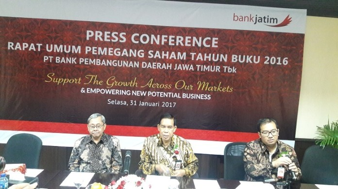 Direktur Utama (Dirut) Bank Jatim Suroso/Foto Three