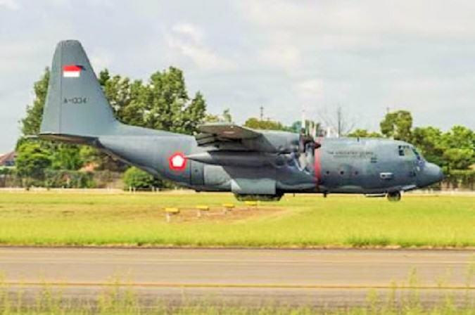 Pesawat angkut berat Hercules A1334 milik skadron 32 Abd Rahman Saleh Malang/Foto: Istimewa