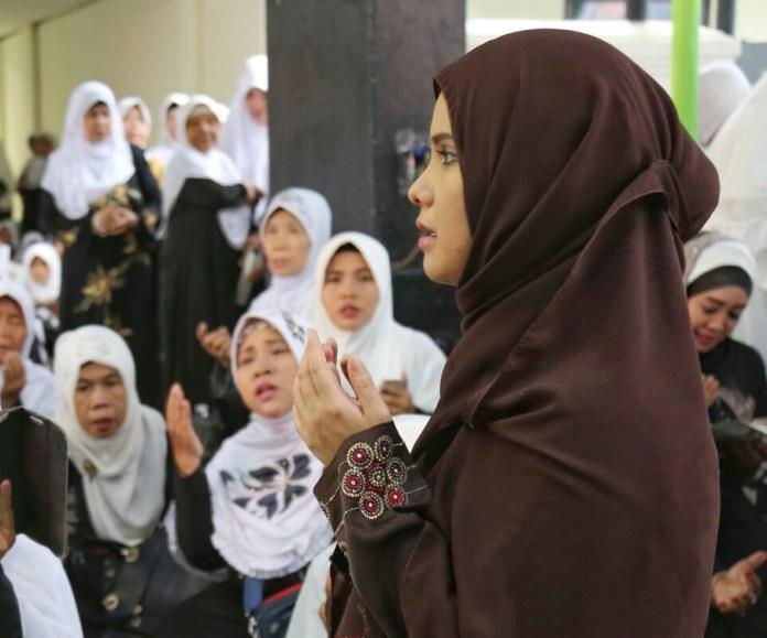Annisa Pohon saat hadiri acara Bersama muslimat NU di Jakut. Foto Dok. @AnnisaPohan