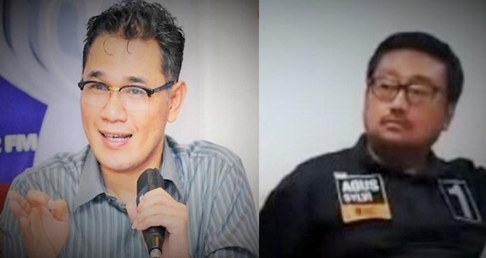 Budiman Sudjadmiko vs Rachland Nashidik/Ilustrasi Foto :@PerakBulan