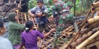 Puting Beliung Kembali Mengamuk, Koramil 0824/10 Mumbulsari Langsung Turun Tangan /Foto Sis24