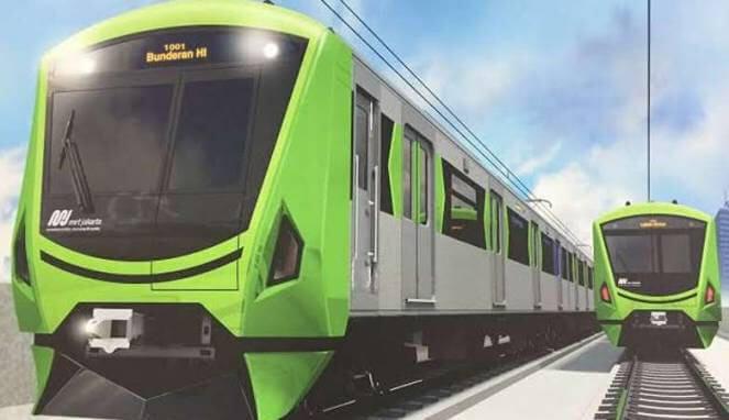 Ilustra: kepala kereta mass rapid transit (MRT) Jakarta/Foto: Istimewa