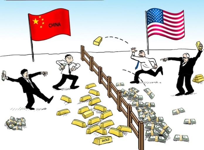 Perang Dangan Cina vs Amerika Serikat. Foto Ilustrasi/Zerohedge
