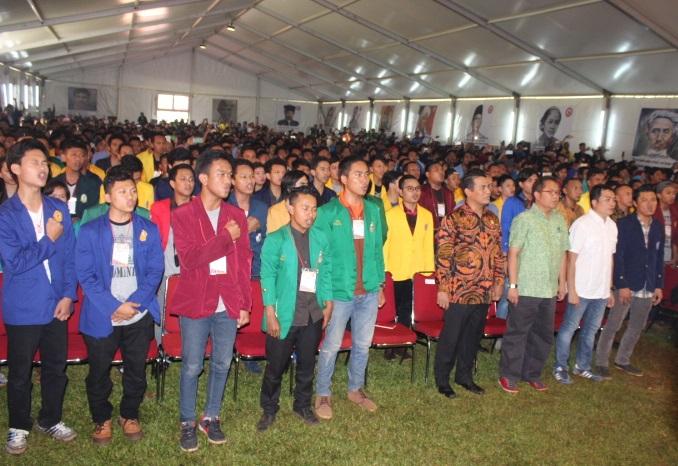 Jambore Nasional Mahasiswa Indonesia bersama menteri pertanian Amran Sulaiman/Foto Andika/Nusantaranews