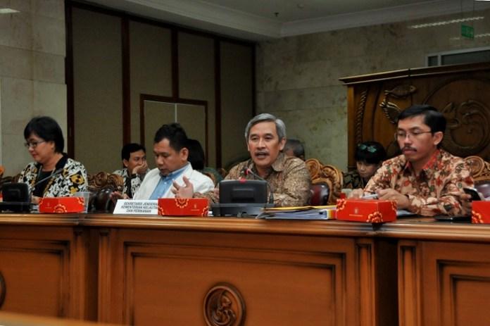 Sekjen KKP, Sjarief Widjaja (kedua dr kanan) didampingi Ketua PANSEL JPT-KKP, Indra J. Pilliang (kedua dr kiri)/Foto: Dok. Humas KKP