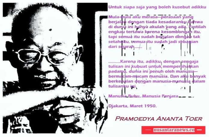 Tribute to Pramodya Ananta Toer/Banner: NUSANTARAnews