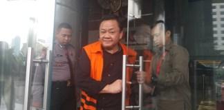 Eko Susilo Hadi (ESH) usai diperiksa di ruangan pemeriksaan KPK/FOto Restu Fadilah / NUSANTARAnews