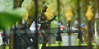 Patung perempuan di Istana Bogor ada yang dibiarkan terbuka / Foto: Dok. Biro Pers Setpres