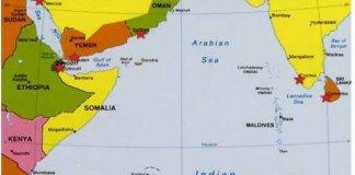 Peta Arab/Foto via Fpri/Nusantaranews