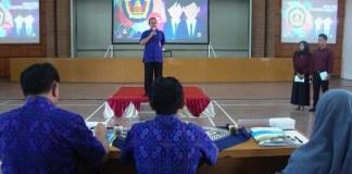 Sambutan rektor sebelum membuka Pilmapres/Foto Rosidi (Humas UMK)