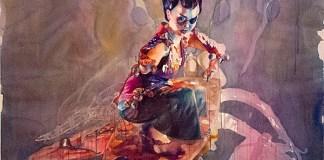 Nindityo Adipurnomo   2013   MA ZU's Fashion 1   Gouache on paper   Taman Budaya Yogya Exhibition  http://koreamosaic.net