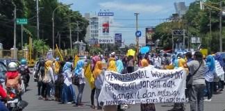 Aksi Peringatan Internasional Women Days PMII Yogyakarta/Foto Dok. Pribadi/Nusantaranews