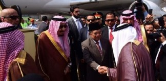 JK di Bandara Halim Perdanakusuma, Jakarta saat mengantarkan keberangkatan hijrah Raja Salman ke Bali, Sabtu (4/3/2017)/Foto: Dok. Merdeka.com