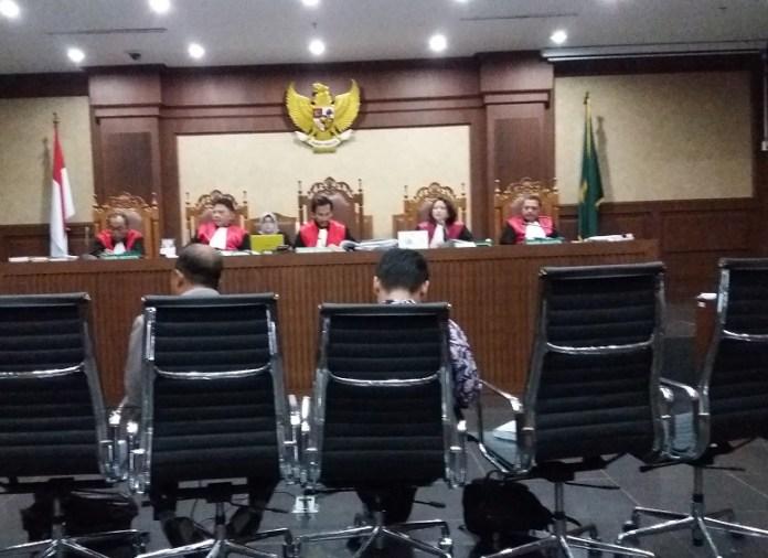 Husni Fahmi beri kesaksian dalam sidang Pengadilan Tindak Pidana Korupsi (Tipikor)/Foto restu fadilah/Nusantaranews