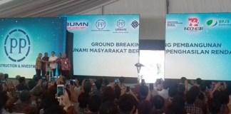 Presiden Joko Widodo Resmikan Rusunami di Tangsel. Foto: Dok. Tribunnews