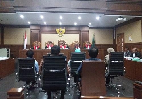 Mantan Kepala Departemen Keuangan PNRI Indri Mardiani bersaksi di sidang lanjutan perkara e-KTP. Foto Restu Fadilah/ NUSANTARAnews