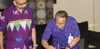Prosesi penandatanganan kerja sama UMK dan La Tofi/Foto Dok. Pribadi/Nusantaranews