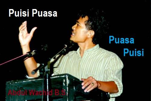 Ilustrasi Puisi Puasa, Puasa Puisi. Foto Abdul Wachid B.S.