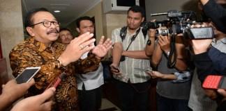 DPD Demokrat Jawa Timur dan Gubernur Jawa Timur, Soekarwo. (Foto: Tri Wahyudi/NusantaraNews)