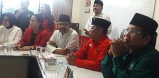 Gus Ipul dan Halim Iskandar bersama Politisi PDIP/Foto Tri Wahyudi/Nusantaranews