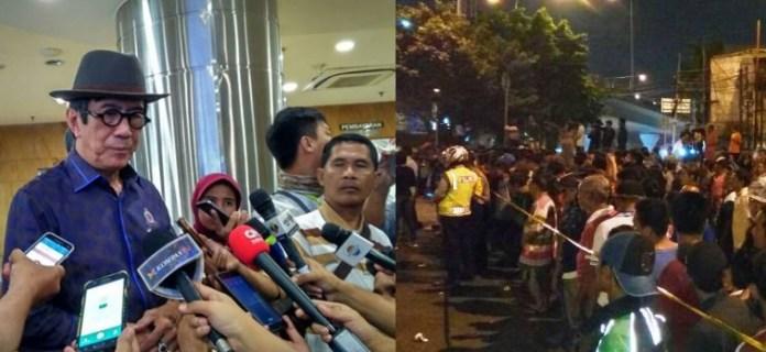 Menkumham Yasonna dan Bom Kampung Melayu/Ilustrasi/Nusantaranews