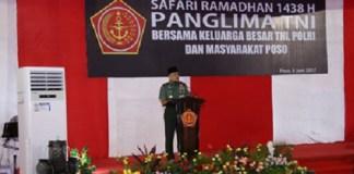 Panglima TNI Jenderal TNI Gatot Nurmantyo saat Safari Ramadhan di Poso. Foto: Dok. Pupern TNI